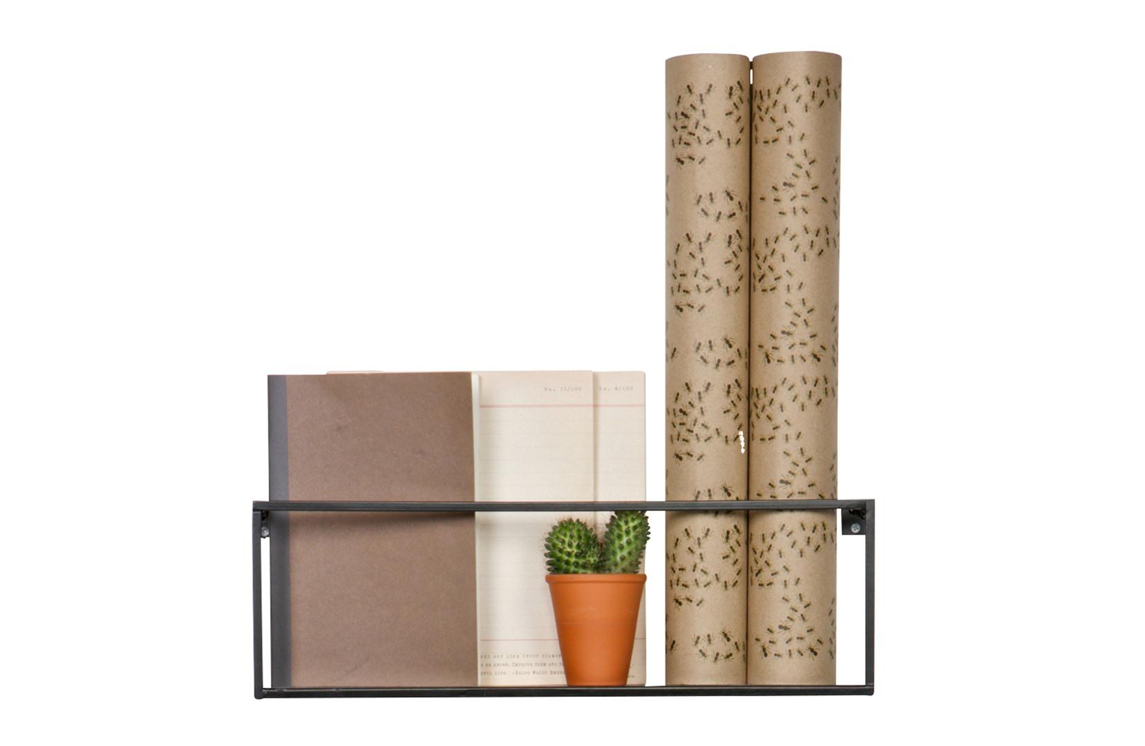 Wandplank Zwart Metaal.Wandplank 50cm Zwart Metaal Krea