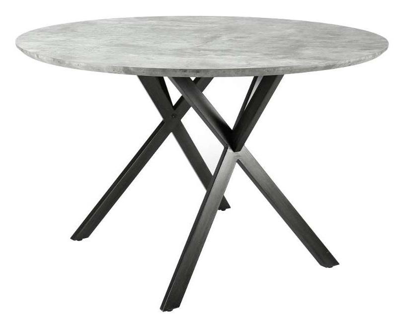 Tafel grijs diameter 120cm krea for Goedkope eetkamerstoelen met armleuning