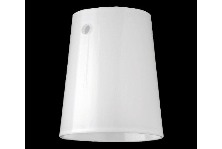 Lampenkap wit glas glanzend