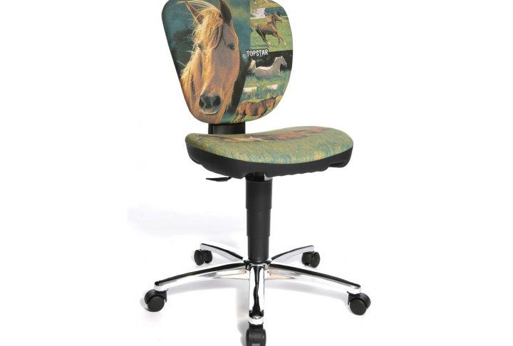 Bureaustoel paard krea