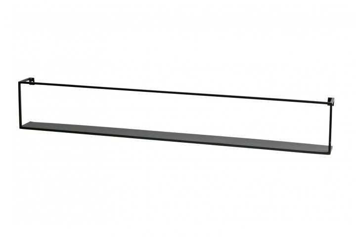 Wandplank 100cm - zwart metaal