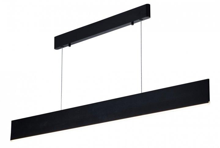 Hanglamp pure-120cm lang zwart (incl. led)