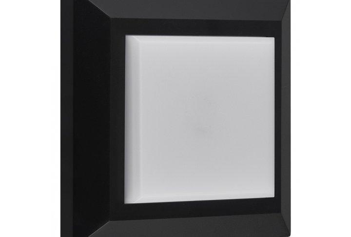 Wandlamp noki vierkant zwart (incl. led)