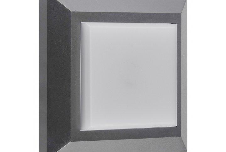 Wandlamp noki vierkant grijs (incl. led)