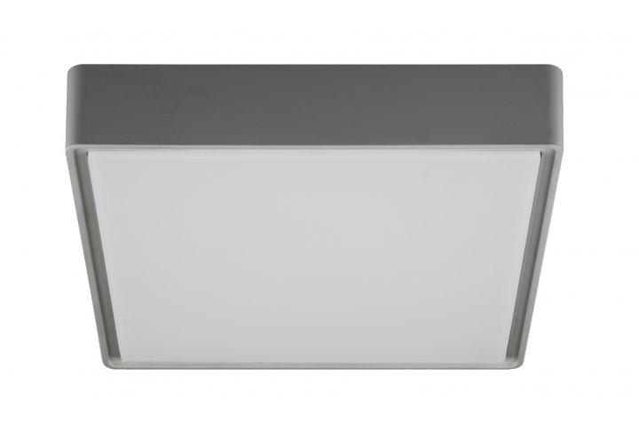 Plafondlamp goa-22cm vierkant grijs (incl. led)