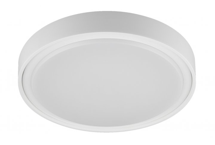 Plafondlamp qijo-26cm rond wit (incl. led)