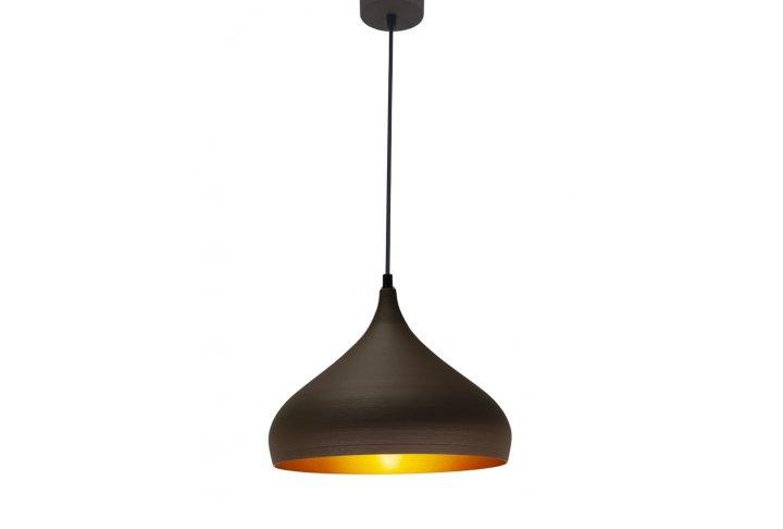 Pendel ronin bruin/goud rond 32cm