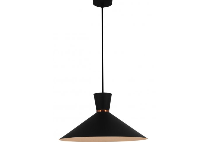 Hanglamp kono zwart/wit rond 39,5cm