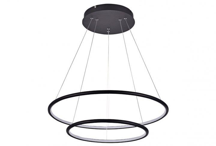 Hanglamp annu-2 ringen zwart (incl. led) 60cm