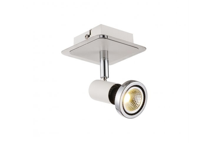 Xzibit plafondlamp spot 1  wit incl.led gu10 5w