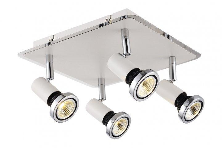 Xzibit plafondlamp  spot 4  wit incl.led gu10 5w