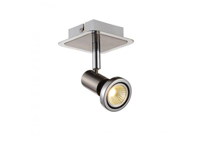 Xzibit plafondlamp spot 1 satin incl.led gu10 5w