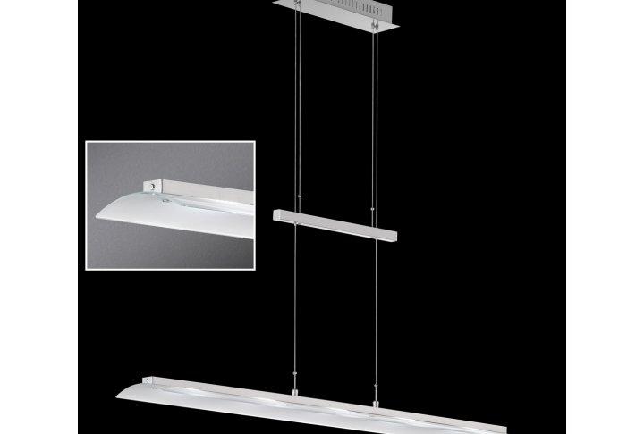 Hanglamp nikkel/chroom (incl. led)