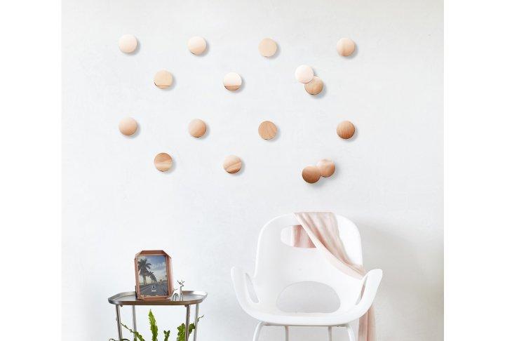 Wanddeco confetti dots koper