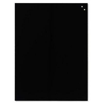 Magneetbord glas zwart (45x45cm)