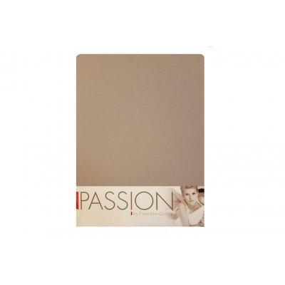 Hoeslaken jersey taupe (90/100x200/220)