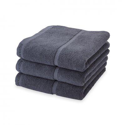 Adagio handdoek  donkergrijs (55x100)