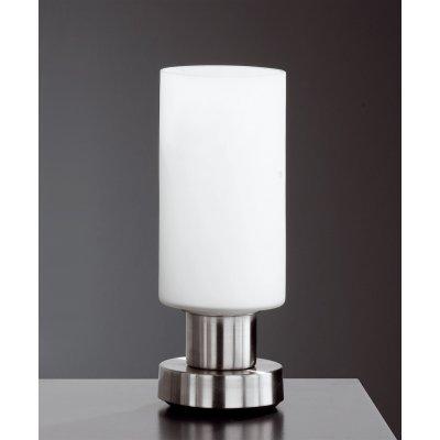 Tafellamp metaal/wit (excl. lamp)