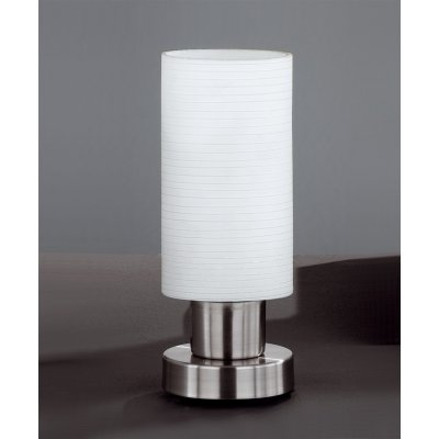 Tafellamp streep metaal/wit (excl. lamp)