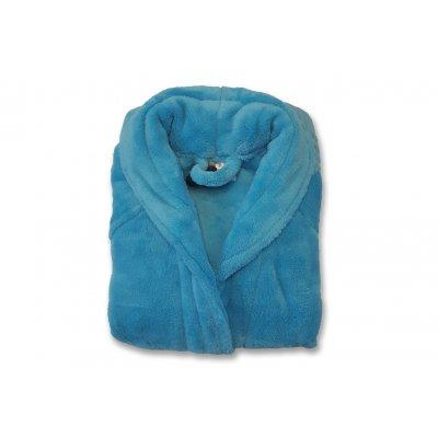 Badjas kid combi turquoise 4/6 jaar