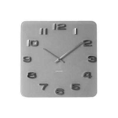 Klok vintage grijs vierkant