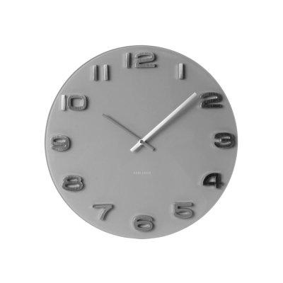 Klok vintage grijs rond
