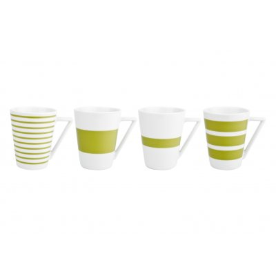 Beker groen stripes salt and pepper