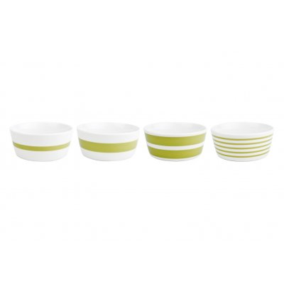 Bowl groen stripes salt and pepper