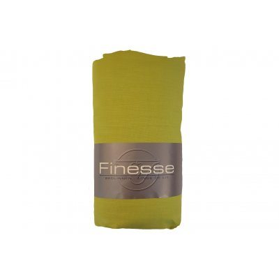 Hoeslaken katoen lime groen (90x200)