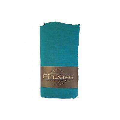 Hoeslaken katoen turquoise (160x200)