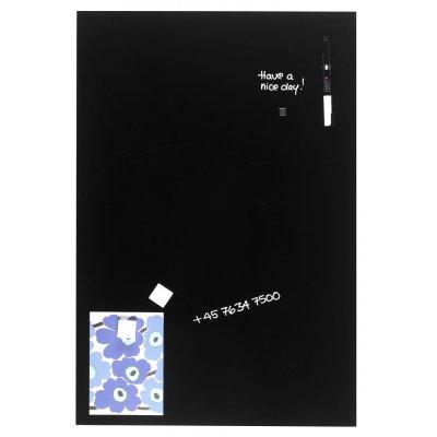 Magneetbord glas zwart (40x60cm)