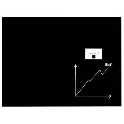 Magneetbord glas zwart (60x80cm)