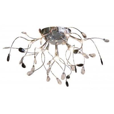 Plafondlamp chroom/zwart