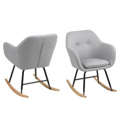 Emilia schommelstoel lichtgrijs