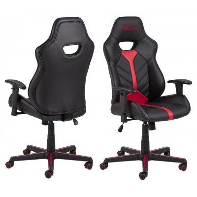 Bureaustoel- game chair zwart/rood