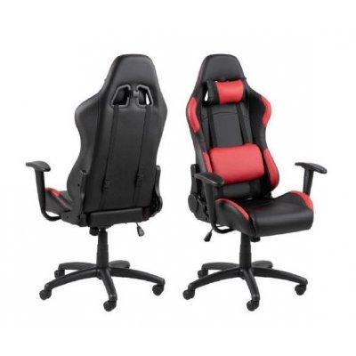 Bureaustoel / gaming chair in zwart en rood