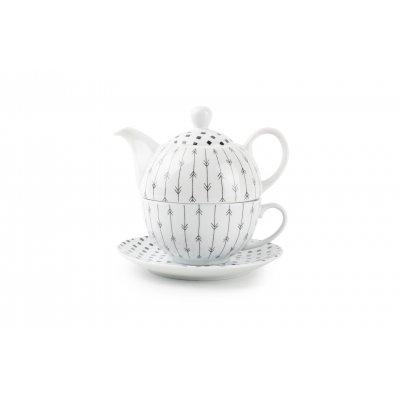 Tea for one set zwart