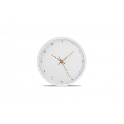 Klok wit en goud (26cm)