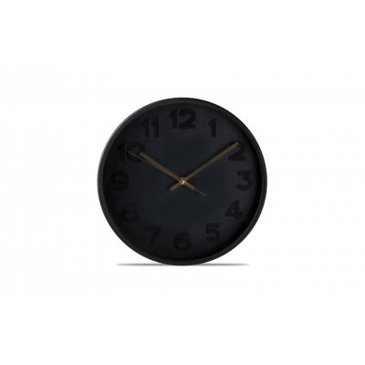 Klok zwart (30cm)