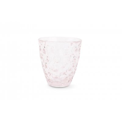 Bubble glas roze set van 4