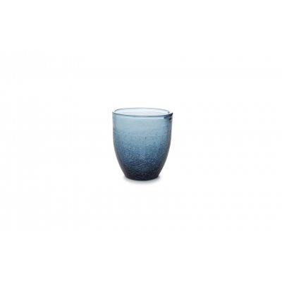 Crackle glas blauw