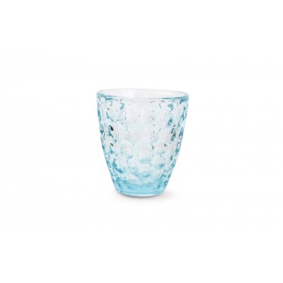 Bubble glas blauw set van 4