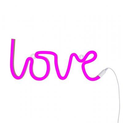 Neon love roze