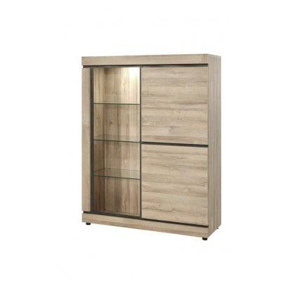 Glaskast - 2 deuren + 1 grote glasdeur (incl. verlichting