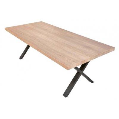Eettafel met x-poten (200x100cm)