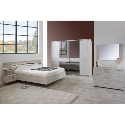Bed (180x200) met nachttafels (incl. led verlichting) | Krea