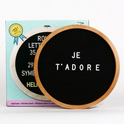 Letterbord rond