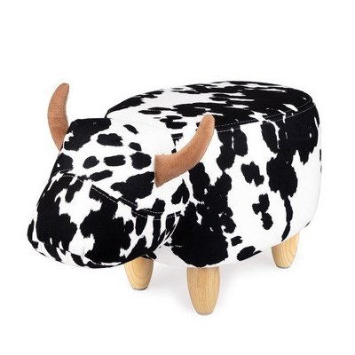 Stoeltje la vache zwart/wit