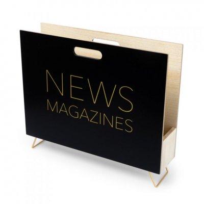 Krantenbak zwart