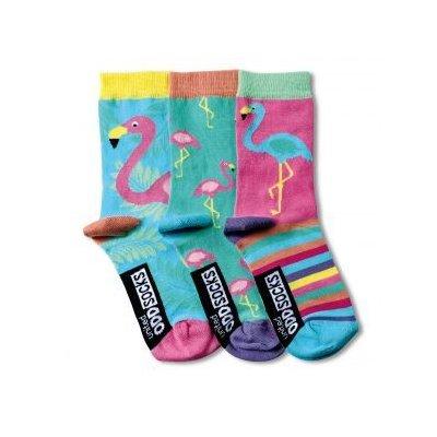Sokken flamingo 30,5-38,5 (set van 3)